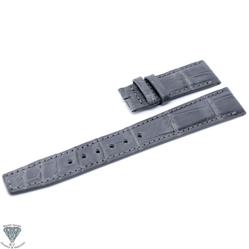 20mm Gray Croco Handmade Straps For IWC Portuguese Watches