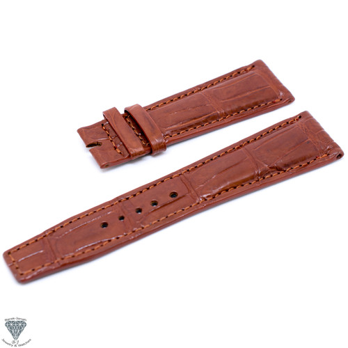 22mm Tan Croco Handmade Straps For Jaeger LeCoultre