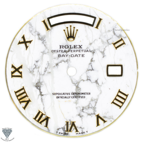 Rolex Marble Dial With Roman Numbers For Rolex Day-Date Watches