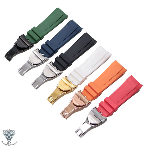 22mm Rubber Band Straps For Tudor Black Bay Watches With Clasp + Tools