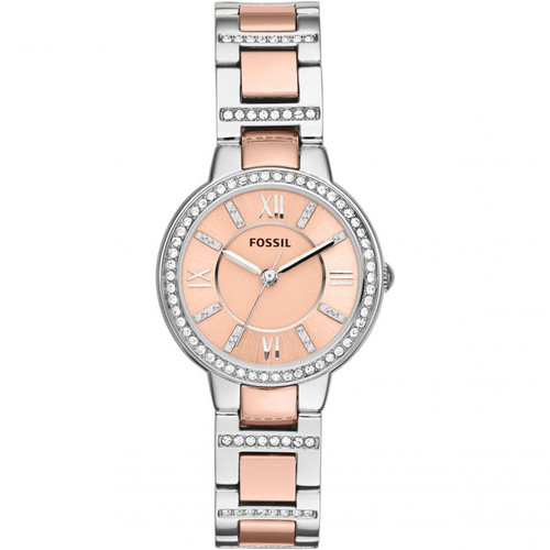 Fossil Virginia Rose Dial Crystal Two-tone ES3405 Women's Watch