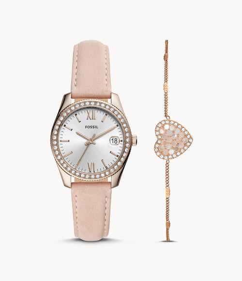 Fossil Scarlette Quartz ES4607SET Diamond Accent Women's Watch