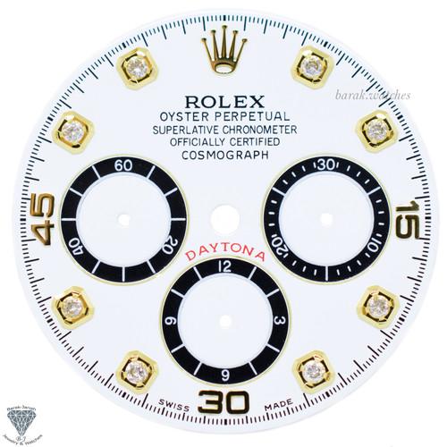 White Rolex Dial For Rolex Daytona 16520 ,16523, 16528 For Caliber 4030 Zenith