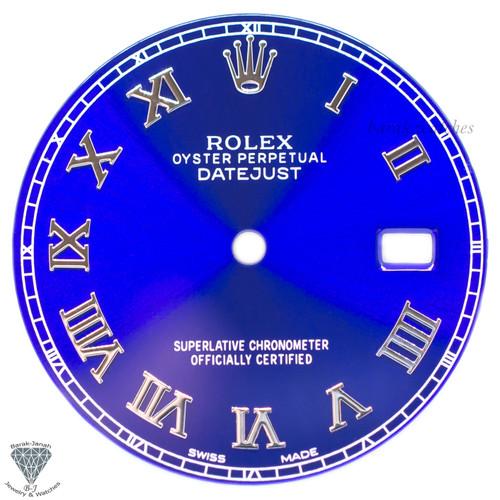 Blue Roman Dial For Rolex DateJust 36mm