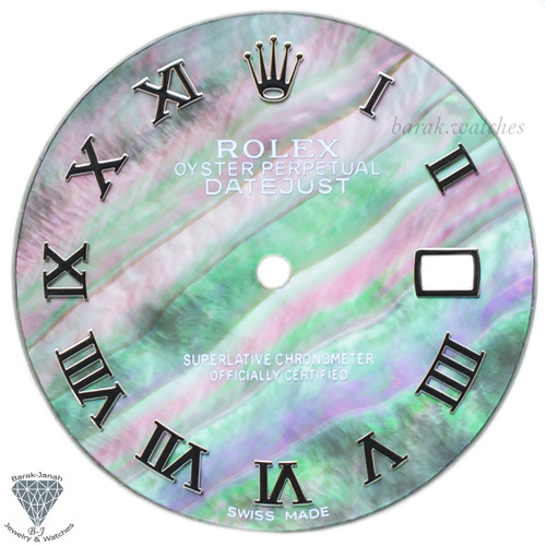 Roman MOP Dial For Rolex DateJust 36mm Caliber 3035 3135 - Silver