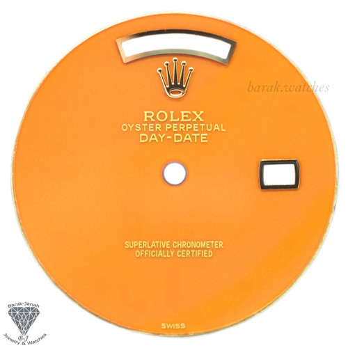 Orange Rolex Coral Stone Dial
