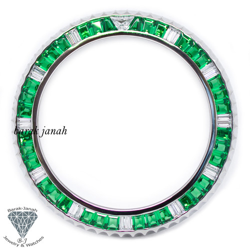 Bezel For Rolex Submariner 116610LV Green Emerald
