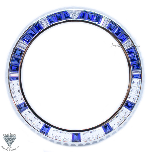 Bezel for Rolex GMT-Master II 116759SA Baguette Cut Stone