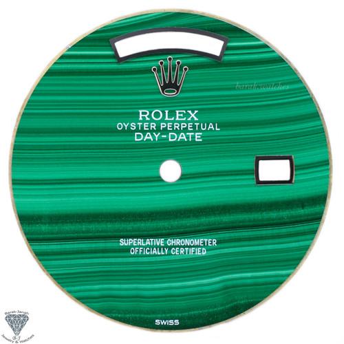 Green Rolex Malachite Stone Dial For Rolex Day-Date Caliber 3155 3055 - Silver