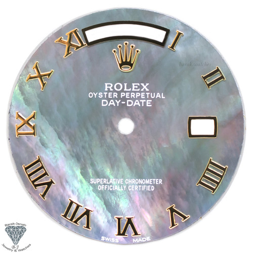 Gray Rolex MOP Roman Dial For Rolex Day-Date Caliber 3155 3055