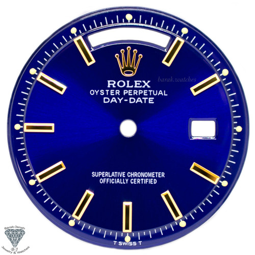 Blue Rolex Dial For Rolex Day-Date 1803 Caliber 1555 1556 - Gold