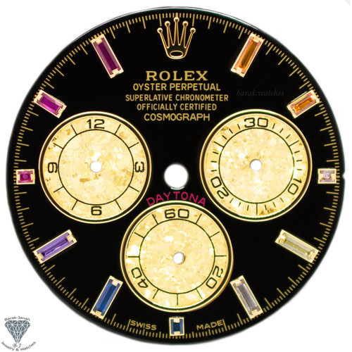 Black Rainbow Rolex Dial For Rolex Daytona 116520, 116598RBOW