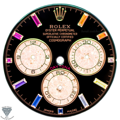 Rainbow Rolex Dial For Rolex Daytona 116520, 116595RBOW