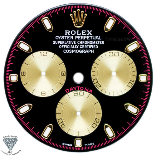 Black Paul Newman Rolex Dial For Rolex Daytona 116520, 116505