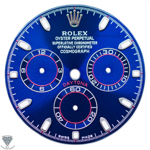 Blue Rolex Dial For Rolex Daytona 116508, 116520, 116505 For Caliber 4130