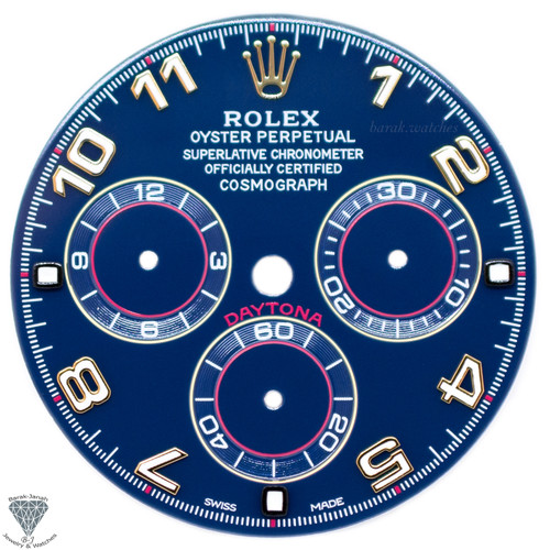 Blue Numbers Rolex Dial For Rolex Daytona 116518, 116523