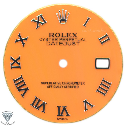 Coral Orange Rolex Dial For Rolex DateJust 36mm Caliber 3035 3135