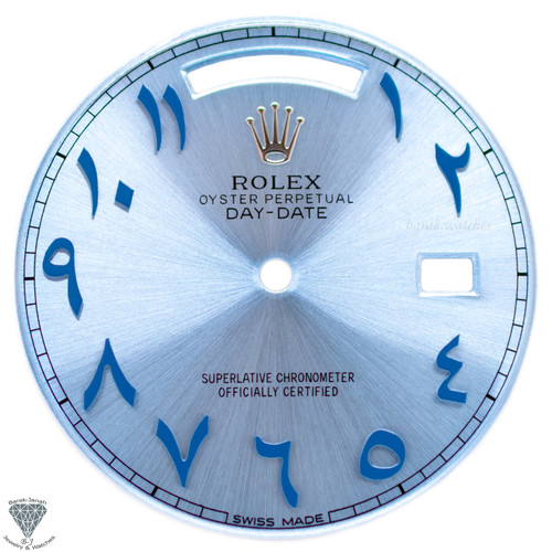 Ice Blue Arabic Rolex Dial For Rolex Day-Date 40mm 228206 For Caliber 3255