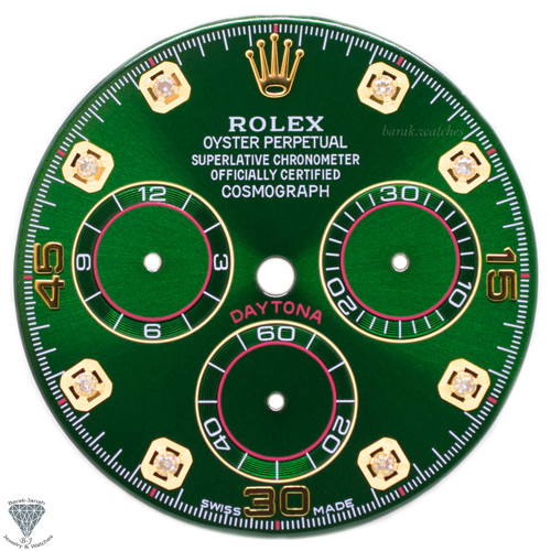 Diamond Green Rolex Dial For Rolex Daytona 116508, 116520, For Caliber 4130