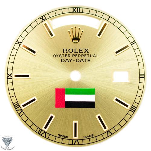 Champagne UAE Flag Rolex Dial