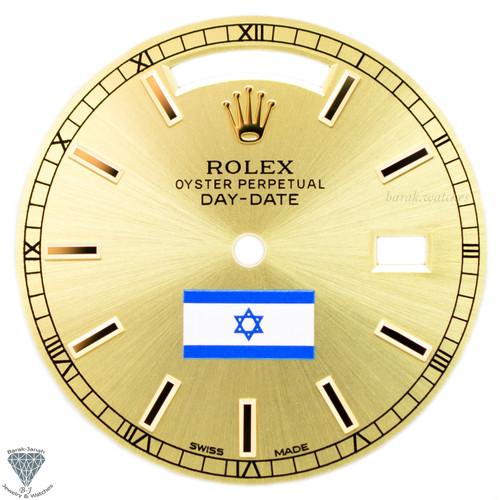 Champagne Israel Flag Rolex  dial