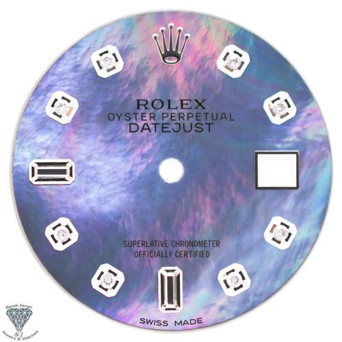 Purple MOP Baguette Diamond Dial For Rolex DateJust 36mm