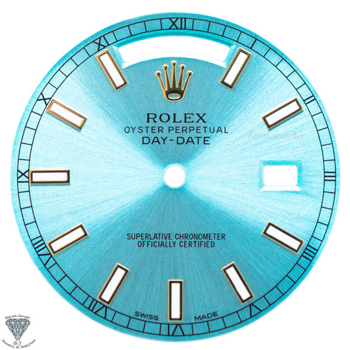Turquoise Rolex Dial For Rolex Day-Date Caliber 3155 3055