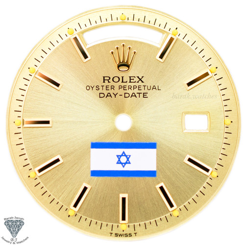 Champagne Israel Flag Dial For Rolex Day-Date 1803