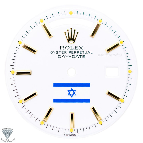 White Israel Flag Dial For Rolex Day-Date 1803