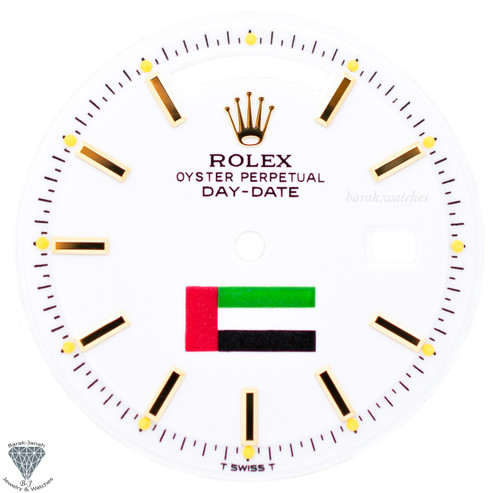 White UAE Flag Dial For Rolex Day-Date 1803
