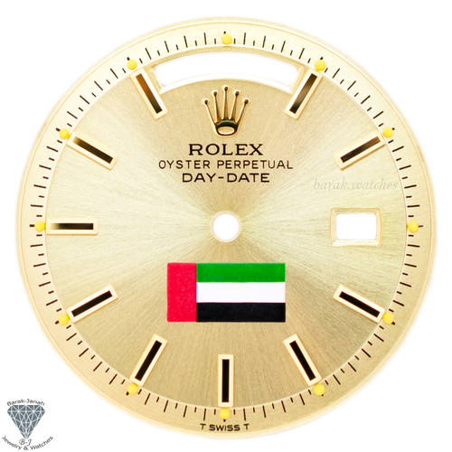 Champagne UAE Flag Dial For Rolex Day-Date 1803