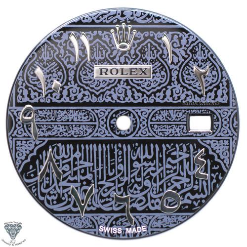 UAE Black Gray Kaaba Door Islamic Dial For Rolex DateJust 41mm - Caliber 3235