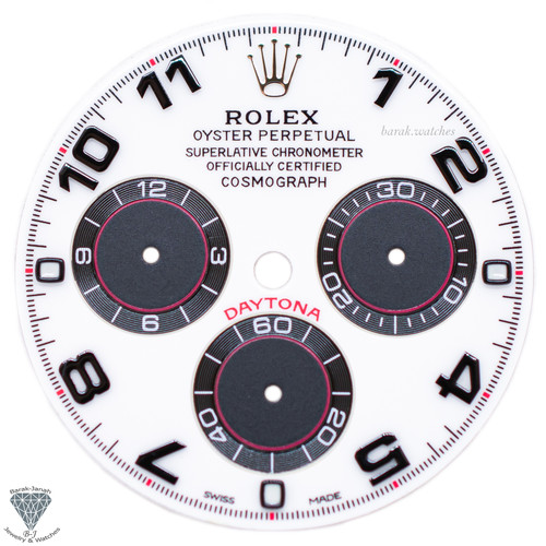 Black Panda Rolex Dial For Rolex Daytona 116509, 116520, For Caliber 4130