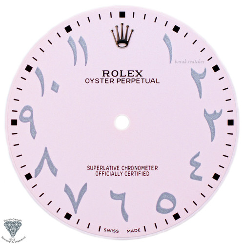 Arabic Light Pink Dial For Rolex Oyster Perpetual 41mm 124300 - Caliber 3230
