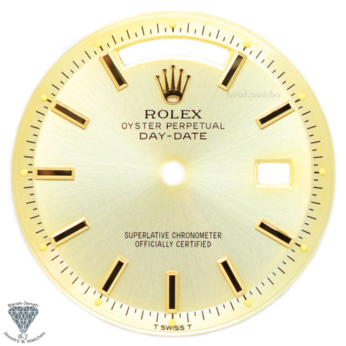Champagne Rolex Dial For Rolex Day-Date 1803 Caliber 1555 1556 - Gold