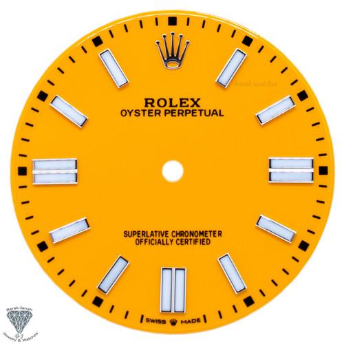 Pumpkin Orange Dial For Rolex Oyster Perpetual 41mm 124300 - Caliber 3230