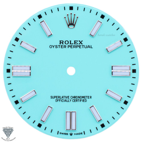 Tiffany Turquoise Dial For Rolex Oyster Perpetual 41mm 124300 - Caliber 3230