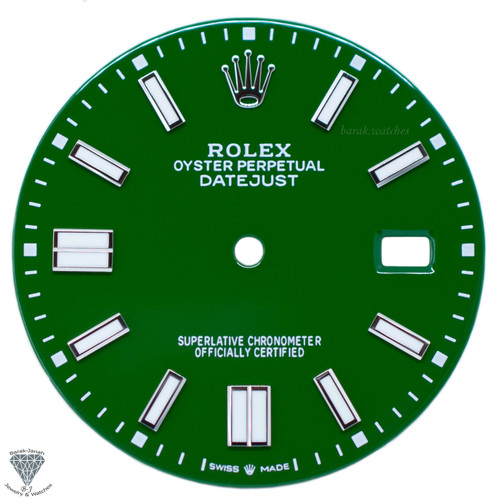 Green Dial For Rolex DateJust 36mm Caliber 3035 3135 - Oyster Perpetual Style