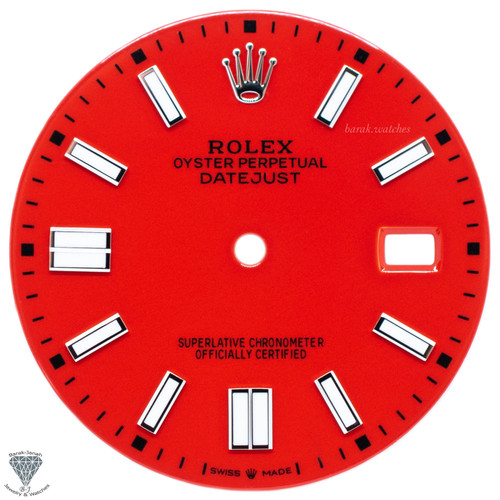 Red Dial For Rolex DateJust 36mm Caliber 3035 3135 - Oyster Perpetual Style