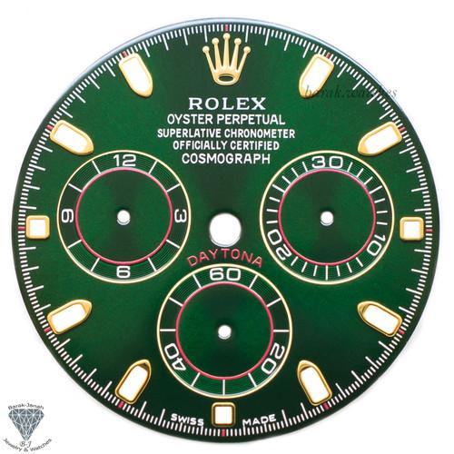 Green Rolex Dial For Rolex Daytona 16520 ,16523, 16528 For Caliber 4030 Zenith