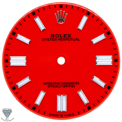 Red Dial For Rolex Oyster Perpetual 41mm 124300 - Caliber 3230
