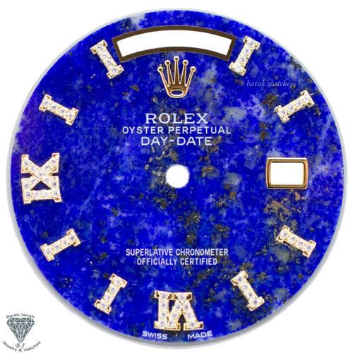 Blue Lapis Lazuli Diamond Dial For Rolex Day-Date Caliber 3155 3055