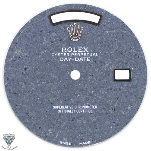 Custom Gray Cement Stone Dial For Rolex Day-Date Caliber 3155 3055