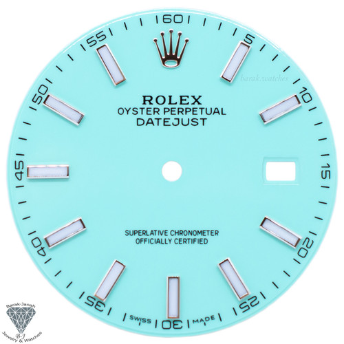Turquoise Dial For Rolex DateJust 41mm Caliber 3235 - Oyster Perpetual Style