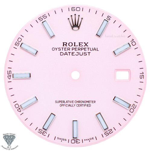 Pink Dial For Rolex DateJust 41mm 126300 Caliber 3235 - Oyster Perpetual Style