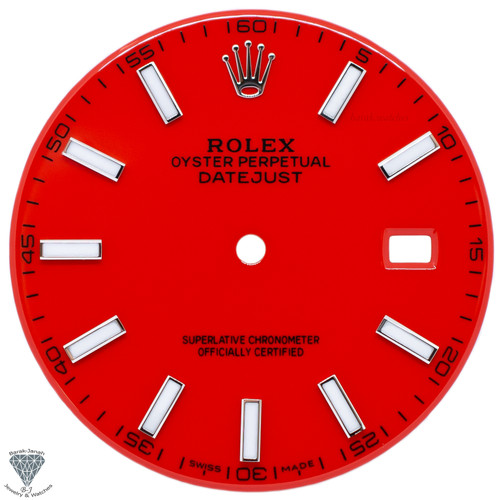 Red Dial For Rolex DateJust 41mm 126300 Caliber 3235 - Oyster Perpetual Style