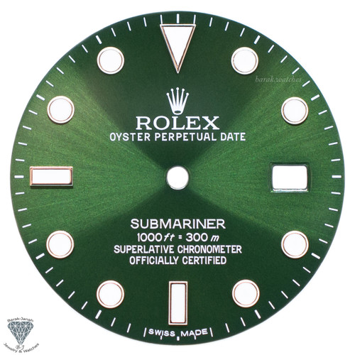 Olive Green Dial For Rolex Submariner 16610 16610LV - Caliber 3035 3135