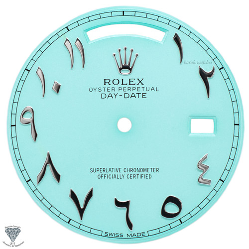 Turquoise Arabic Rolex Dial For Rolex Day-Date 40mm 228206 - Caliber 3255