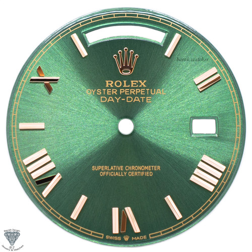 Green Roman Dial For Rolex Day-Date 40mm 228235