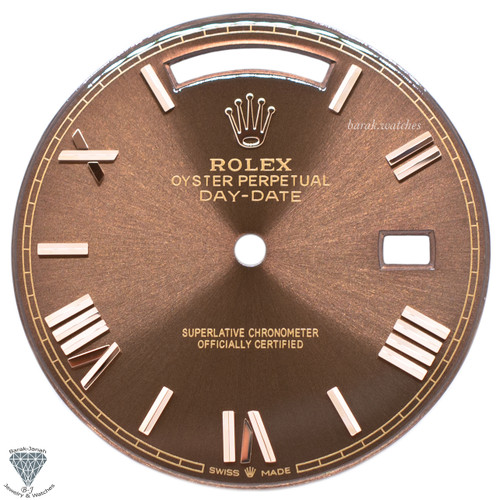 Chocolate Brown Roman Dial For Rolex Day-Date 40mm 228235 For Caliber 3255